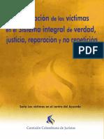 La Participacion de Las Victimas en El Sistema de Verdad, Justicia y Reparacion - CCJ