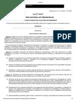 Ley 18.621 - SISTEMA NACIONAL DE EMERGENCIAS - Uruguay