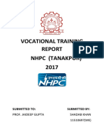 nhpc Training Report