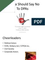 Canada Should Say No to DPAs