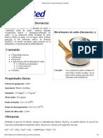 Bicarbonato de Sodio (Sustancia) - EcuRed
