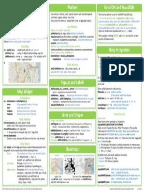Leaflet Cheat Sheet | Latitude | Parameter (Computer Programming)