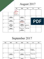2017-2018 cheer calendar varsity