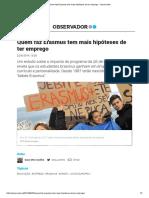 Quem Faz Erasmus Tem Mais Hipóteses de Ter Emprego - Observador_22092014