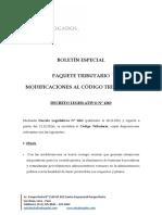 Paquete Tributario 2017 Modificaciones Al Ct Decreto Legislativo n 1263 1311 y 1315