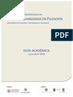 Guia Estudios Avanzados Filosofia 2017 2018