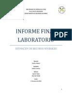 Informe laboratorio estimación de recursos
