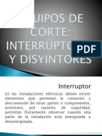 Equipos de Corte Interruptores y Disyuntores