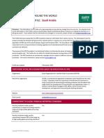 Saudi Arabia IFRS Profile