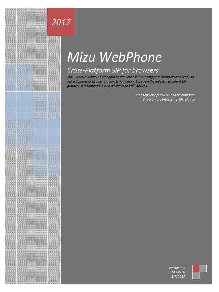 Webphone Documentation | Java Script | Session Initiation Protocol