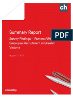Greater Victoria Recruitment Issues Survey - Summary Report - Aug. 15, 2017