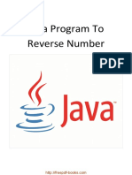 Java Program to Reverse Number