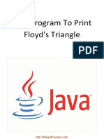 Java Program to Print Floyd's Triangle