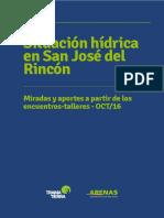 Situación hídrica en San José del Rincón - Santa Fe - Argentina