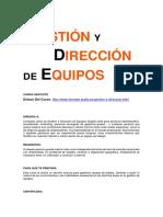 Gestión y Direccion de Equipos