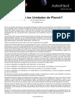 Unidades de Planck