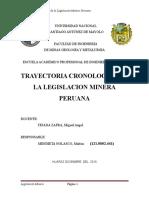 Trayectoria Cronologica de La Legislacion Minera Peruana Marlon Mendieta Nolasco