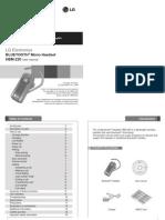 User Manual Headset LG HBM-220 Eng
