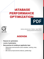 Database Performance Optimization. Andrey Avtomonov
