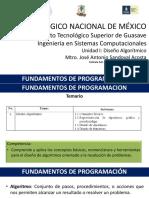 Fundamentos de programación  Unidad 1 - Diseño Algorítmico