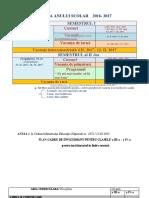 Structura an Scolar Plan Cadru Orar