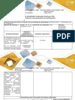 Guía de actividades y rúbrica de evaluación - Paso 4 - Realizar una propuesta de investigación (1)