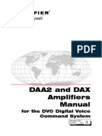 DAA2 and DAX Amplifiers Manual - For the DVC Digital Voice Command System 53265