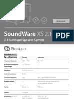 Boston Soudware Xs2.1 Ice3b0365j Ir2153