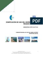 Zonificacion Del Borde Costero de La Region Del Bio Bio