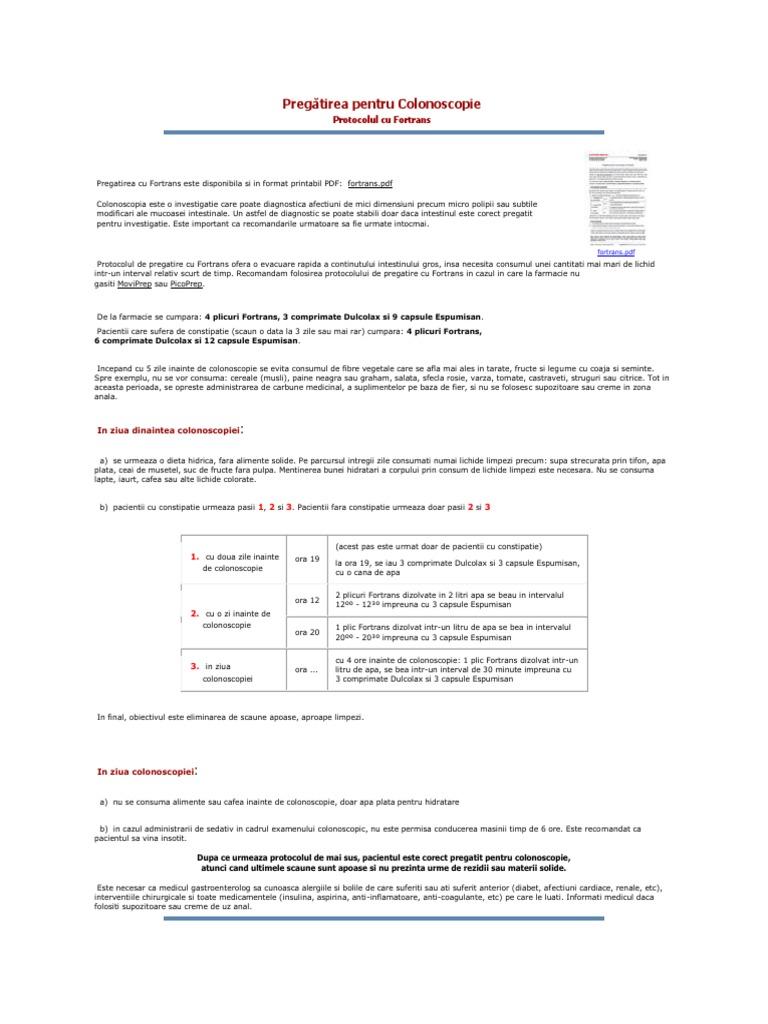 picoprep sau fortrans simptome și medicamente de tratament pentru adulți
