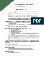 Necesar Rechizite Clasa AIIa1