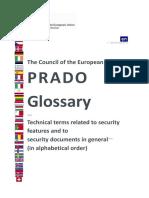 Prado Glossary