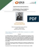 Ficha 4° Coloquio Educacion Matematica IMFE-PME  -2017