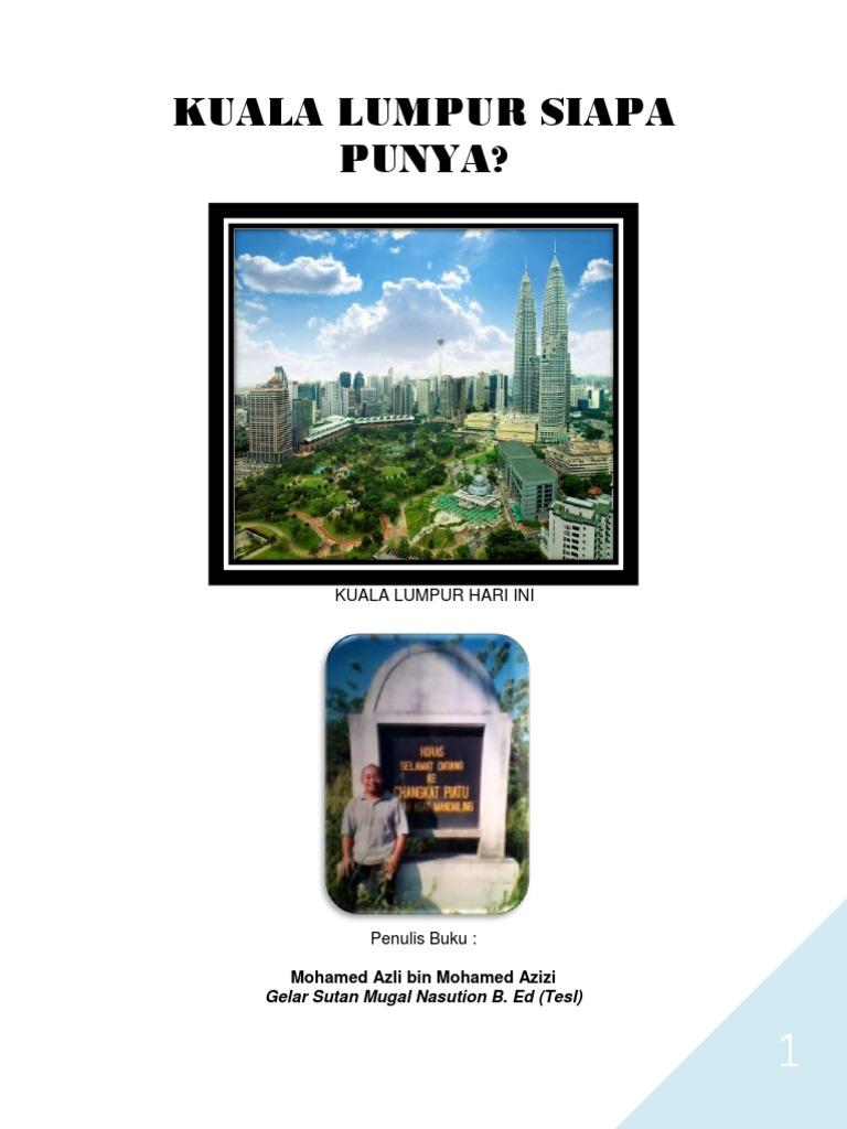 Kuala Lumpur Siapa Punya Edited 08 03 2017 Pdf