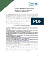 Edital ANS 2015 - 102 Vagas - 2º Grau