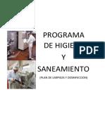 Programa de Higiene y Saneamiento