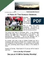 Pastor Bill Kren's Newsletter - August 20, 2017