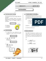 III BIM - Aritmetica - 5to. año -  Guía 6 - Sustracción (val.doc
