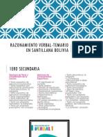 Razonamiento Verbal-temario en Santillana Bolivia