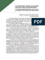 REGULACIÓN DE LA ENFERMEDAD LABORAL EN COLOMBIA Y PROYECTO DE NUEVA TABLA DE ENFERMEDADES.docx