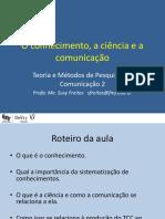 1 - O Conhecimento e a ciência.pptx