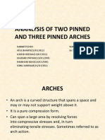 Ananlysis of Two Pinned and Three Pinned Arches