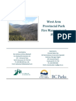 West Arm Provincial Park Draft Fire Mp 2017