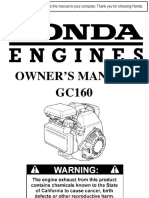 Honda Engine Manual for Excell Vr2522