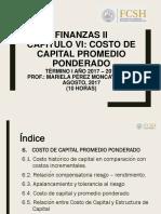 Finanzas II_Cap6_Costo Capital Promedio Ponderado
