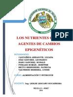 Los Nutrientes Como Agentes de Cambios Epigenéticos