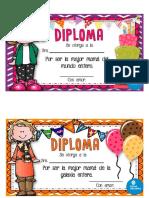 Diplomas Llamativos Para El Día de Las Madres