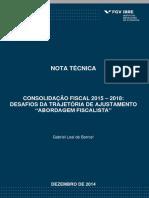 Nota T_cnica - Consolida__o Fiscal 2015 -
