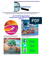 Are World Championships as important as the Olympic Games?