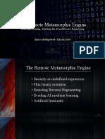 RECON 0xA the Remote Metamorphic Engine